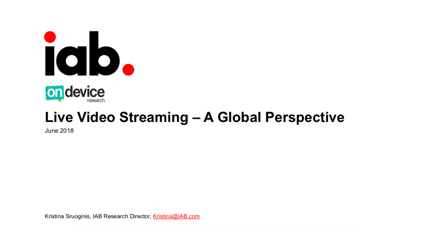 Live Video Streaming – A Global Perspective